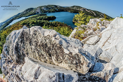Fishey View from The Crack, Killarney Provincial Park, Ontario, Canada