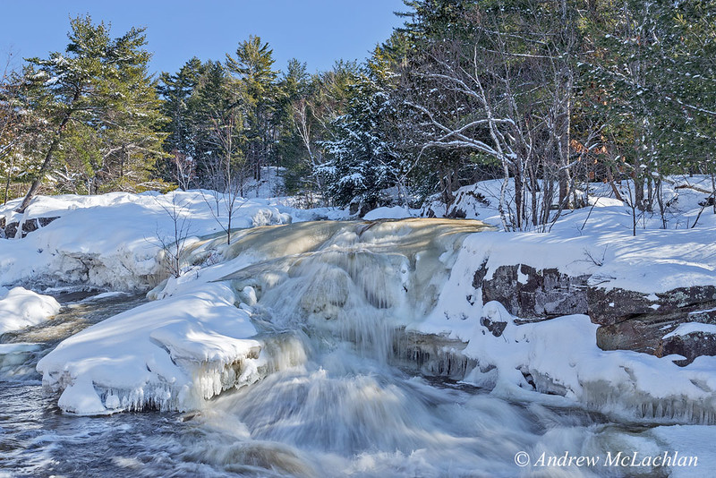 Lower Rosseau Falls in Winter
