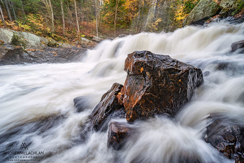 Brooks Falls on the Magnetawan River in the Almaguin Highlands near Emsdale, Ontario
