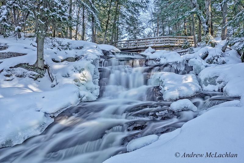Winter at Little High Falls in Muskoka