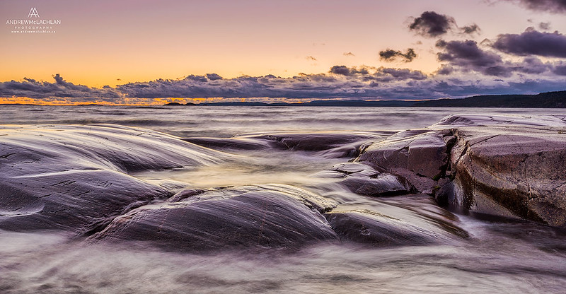 Sunset on Lake Superior at Neys Provincial Park, Ontario