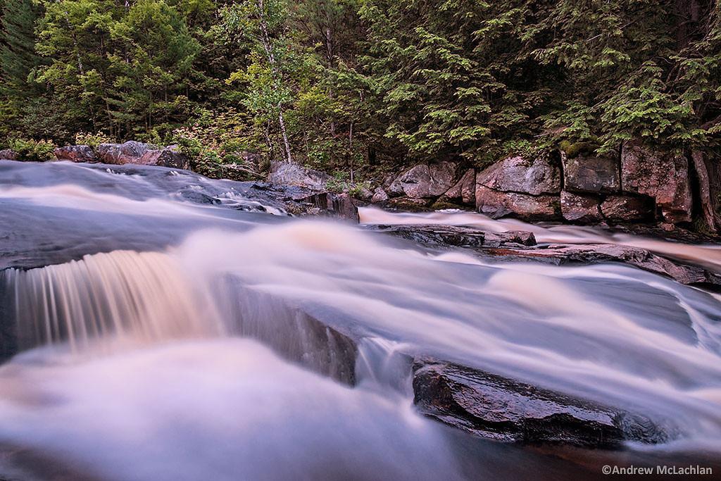 Lower Rosseau Falls on the Rosseau River, Muskoka, Ontario