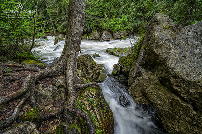 Sydenham River on the Niagara Escarpment at Inglis Falls, Ontario, Canada