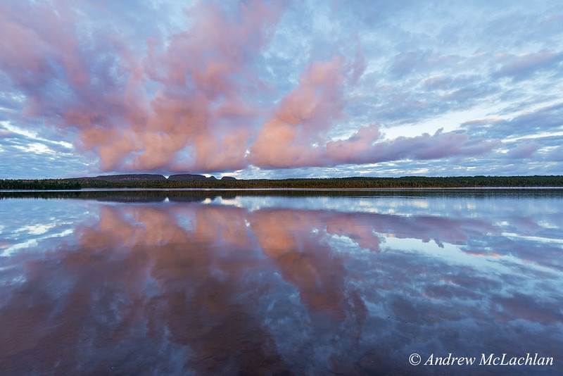 Daybreak on Marie Louise Lake