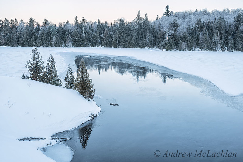 Smoke Creek in Winter in Algonquin Provincial Park