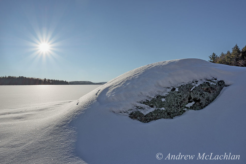 Smoke Lake in Winter in Algonquin Provincial Park