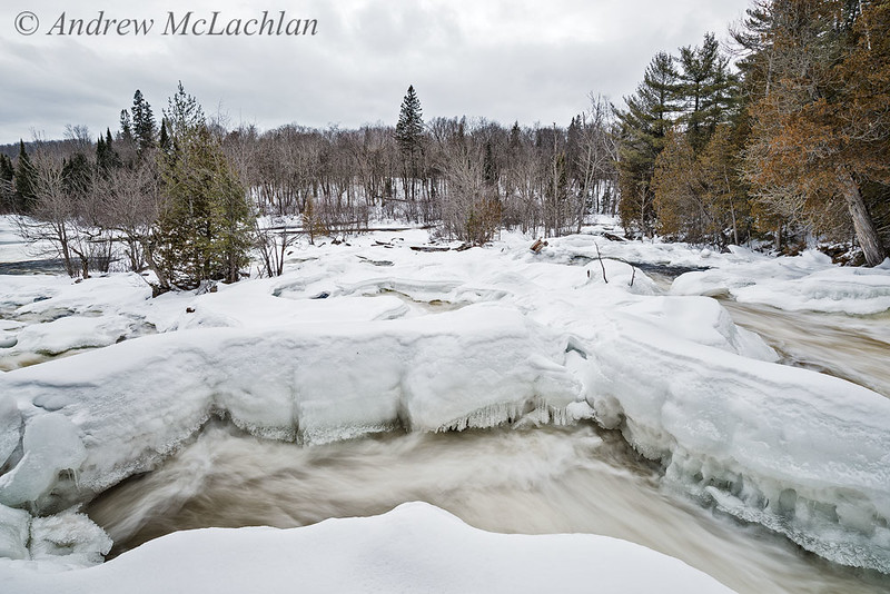 Ragged Falls on the OXtongue River in Winter