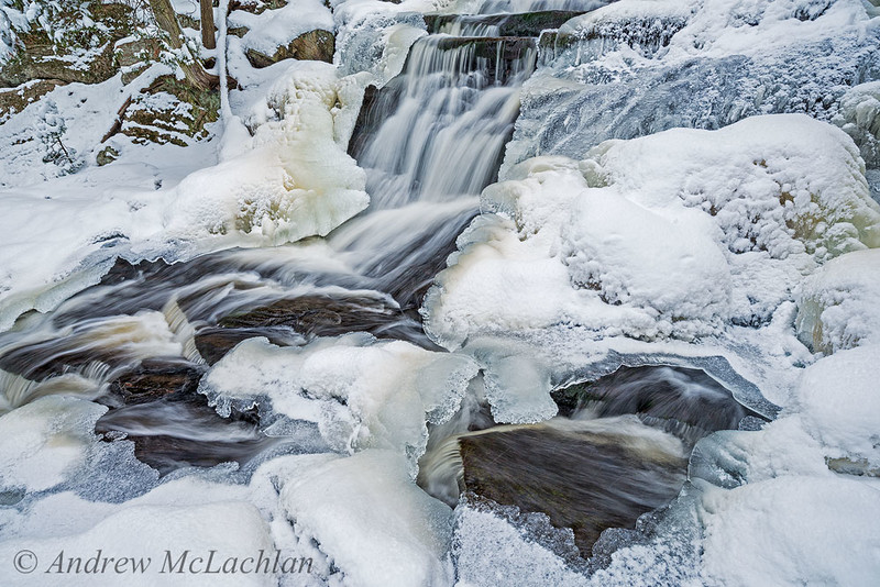 Winter at Little High Falls in Muskoka
