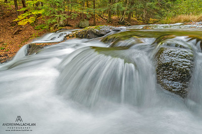 Skeleton Falls on the Skeleton River in Muskoka, Ontario, Canada