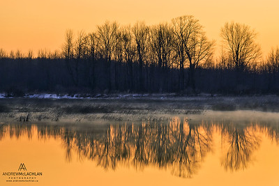Sunrise at Tiny Marsh Provincial Wildlife Area, Elmvale, Ontario, Canada