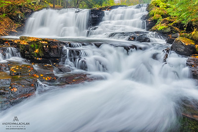 Autumn Colour at Skeleton Falls, Muskoka, Ontario, Canada