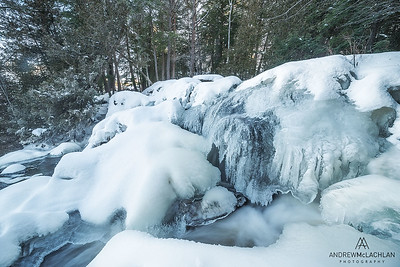 Winter at Potts Creek, Bracebridge, Ontario, Canada