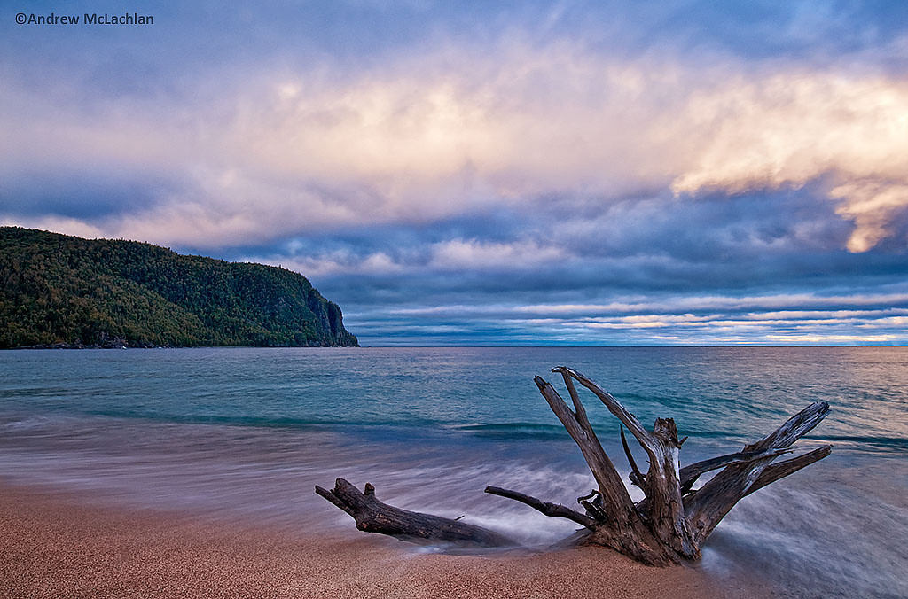 Storms at Daybreak at Old Woman Bay on Lake Superior in Lake Superior Provincial Park, Ontario