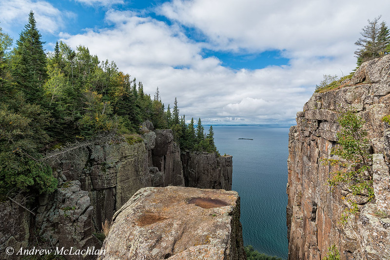 View of Lake Superior from the Top of the Giant in Sleeping Giant Provincial Park