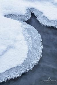 Winter Stream Details, Ontario, Canada