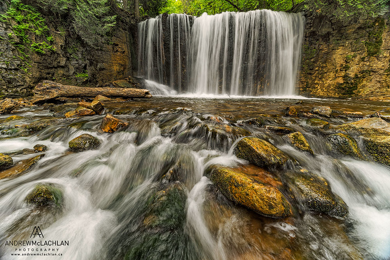 Hoggs Falls on the Boyne River in the Beaver Valley, Flesherton, Ontario