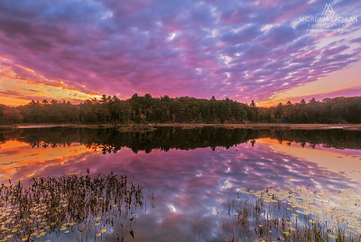 Sunrise on Small Lake, Muskoka, Ontario, Canada