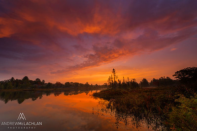 Sunsrise at Highland Pond in the Torrance Barrens, Muskoka, Ontario, Canada