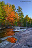 Autumn Colour at Lower Rosseau Falls in Muskoka