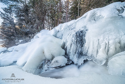 Winter at Potts Creek, Muskoka, Ontario, Canada