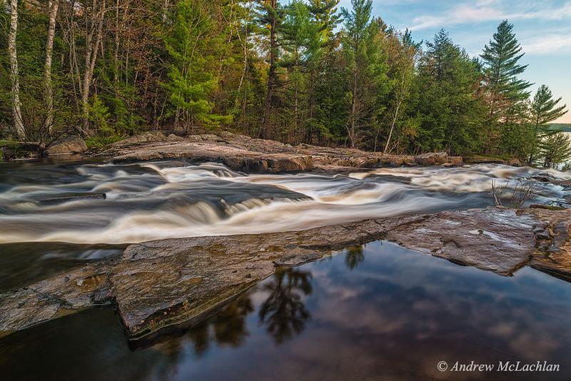 Lower Rosseau Falls in Muskoka
