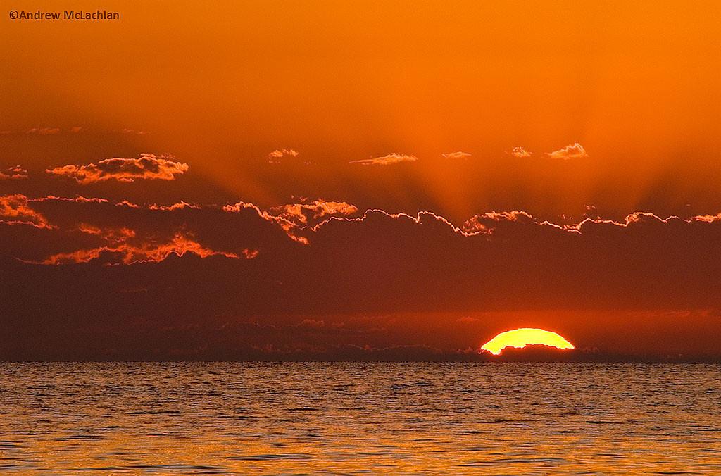 Sunset on Lake Superior, Pukaskwa National Park, Ontario