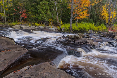 Upper Rosseau Falls on the Rosseau River, Muskoka, Ontario, Canada