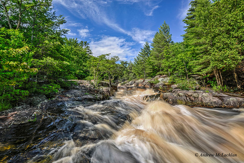 Lower Rosseau Falls in Muskoka