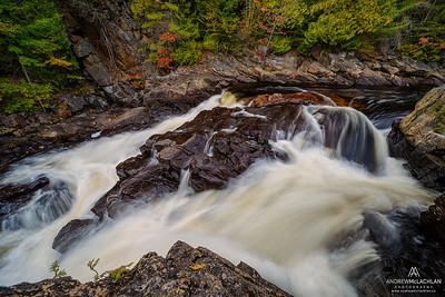 Oxtongue River, Ragged Falls Provincial Park, Ontario, Canada