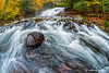 Autumn Colour at Hatchery Falls in Muskoka