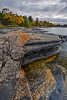 The rugged coast of Georgian Bay on the North Shore Rugged Hiking Trail in Parry Sound, Ontario, Canada