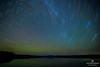 Star Trails over Lake Travers in Algonquin Provincial Park, Ontario, Canada