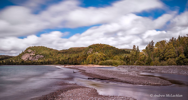 The Coldwater River at Lake Superior in Lake Superior Provincial Park