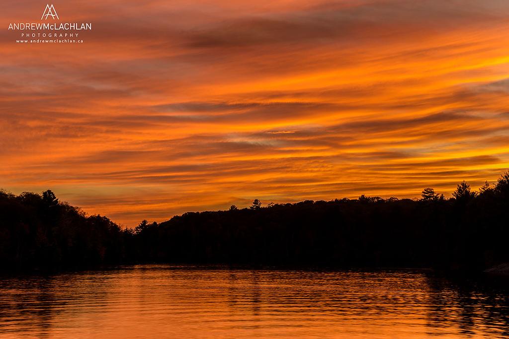 Sunset on Horseshoe Lake, Muskoka, Ontario, Canada