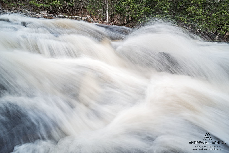 Lower Rosseau Falls on the Rosseau River in Muskoka, Ontario, Canada