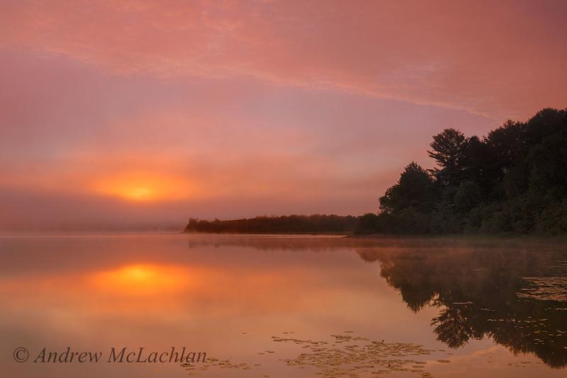 Sunrise on Lake Travers