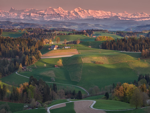 view of the Emmental countryside