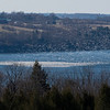 Skaneateles Lake with snow geese