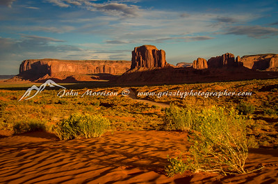 Monument Valley  as the sun sets