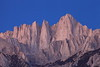 Alpen Glow on Mt. Whitney before sunrise