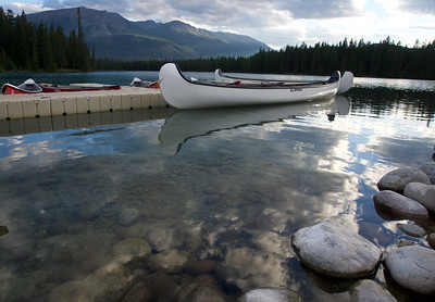 Canoes on Lac Beauvert