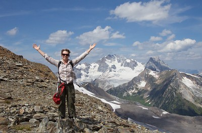 Me. Loving life in Canada's Selkirk Mountains.
