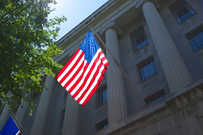 American Flag on Department of Justice