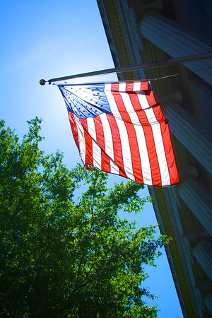 Sunlight through American Flag