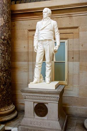 Vertical Daniel Webster Statue