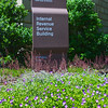 Flowers in front of IRS Building