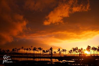 "Nuclear Sunset at ""A-Beach"""