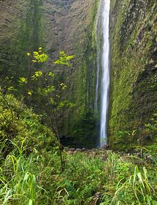 Beneath Hi'ilawe Falls