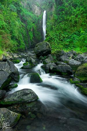 Lower Hanawi Waterfall and Rock Stream