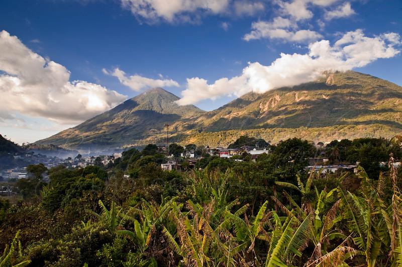 San Lucas Toliman, Guatemala Volcano Atitlan and Toliman